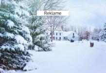 Et hus i sneen